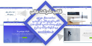 سایت آماده شرکت مالی و تجاری