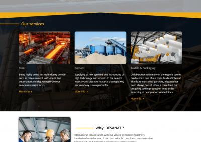 طراحی سایت شرکتی دو زبانه