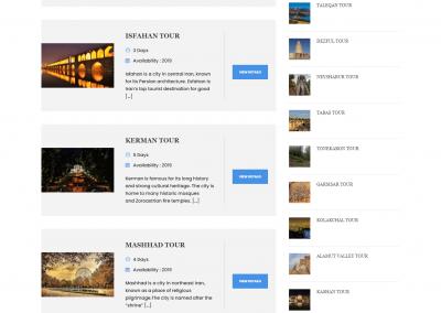 طراحی سایت آژانس گردشگری و تور به زبان انگلیسی